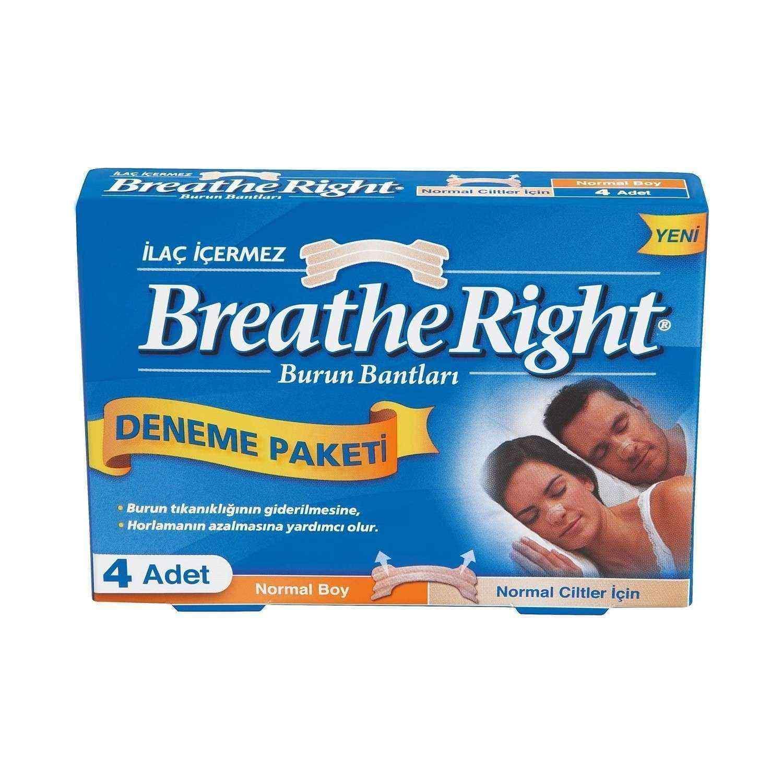 Breathe Right Normal Ciltler için Normal Boy Deneme Paketi 4 Adet