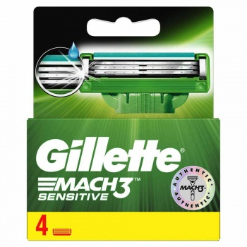 Gillette Mach3 Sensitive Yedek Tıraş Bıçağı 4 Adet