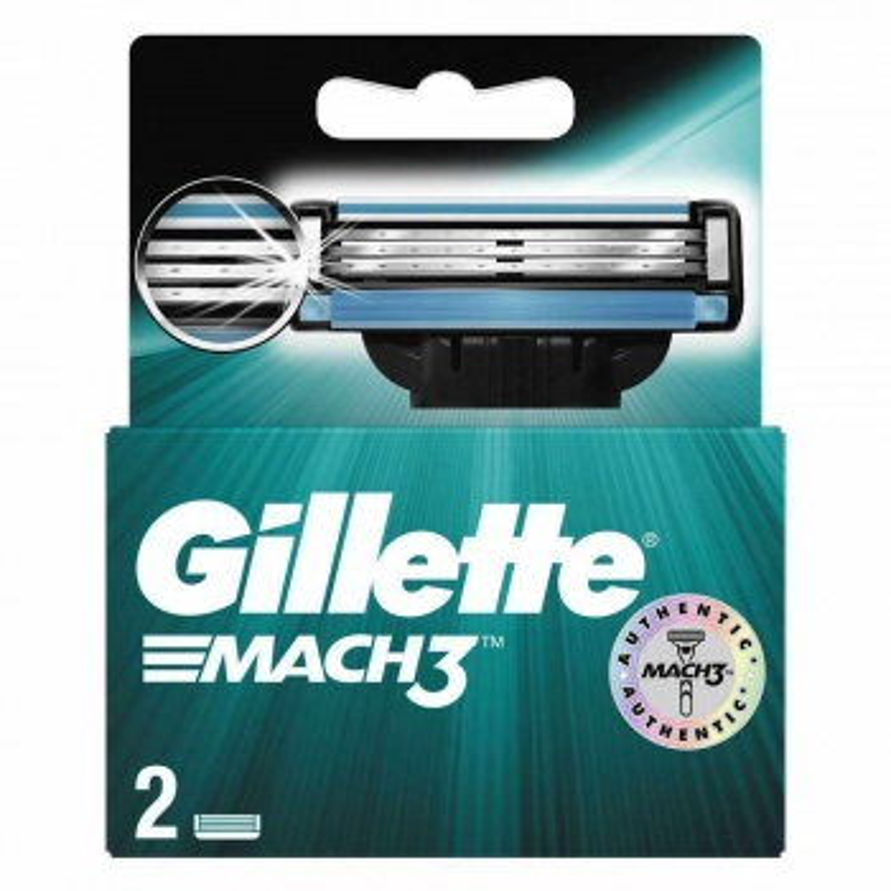 Gilette Mach3 - 2 Adet Yedek Bıçak