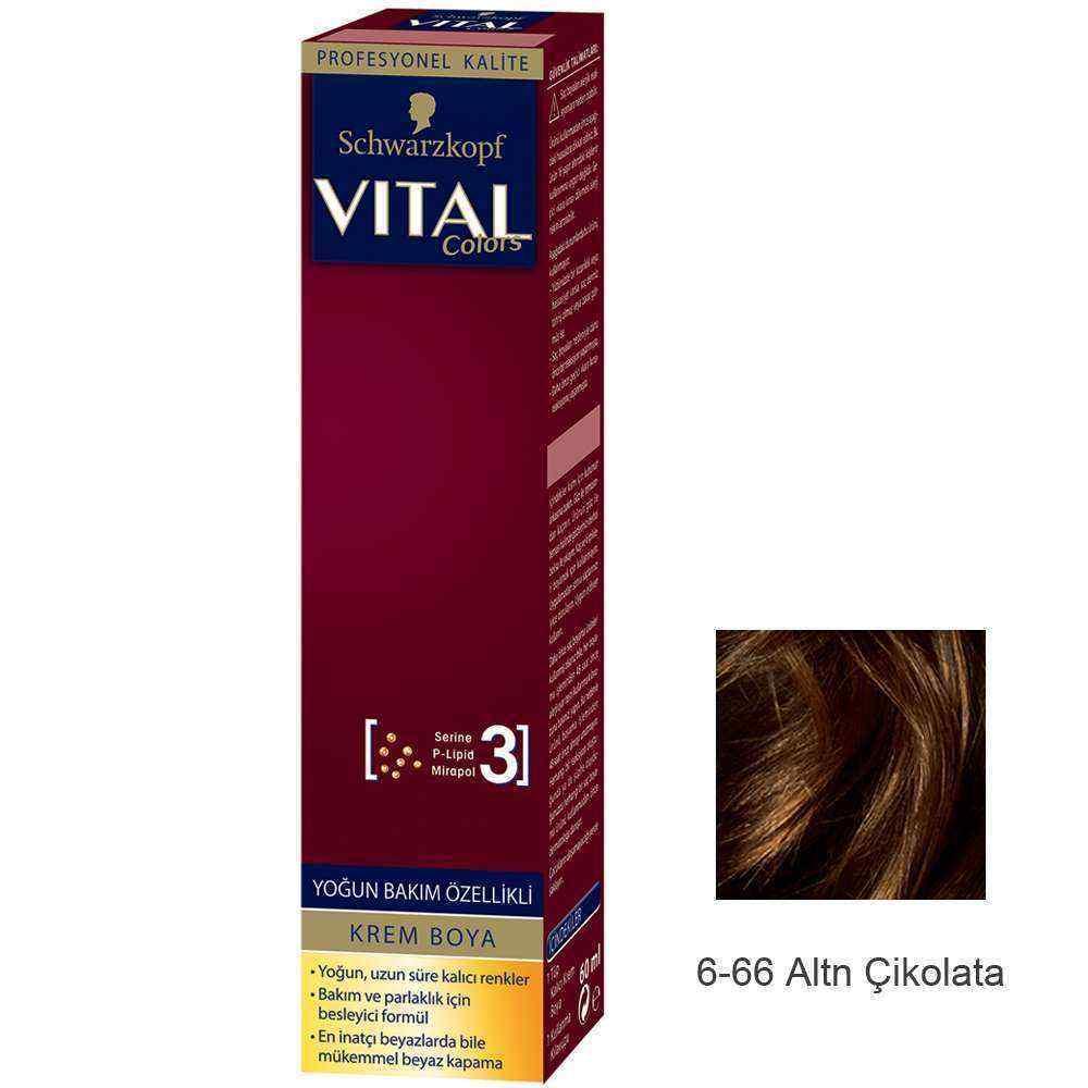 Vital Colors Krem Saç Boyası 6.66 Altın Çikolata  - 60 ml