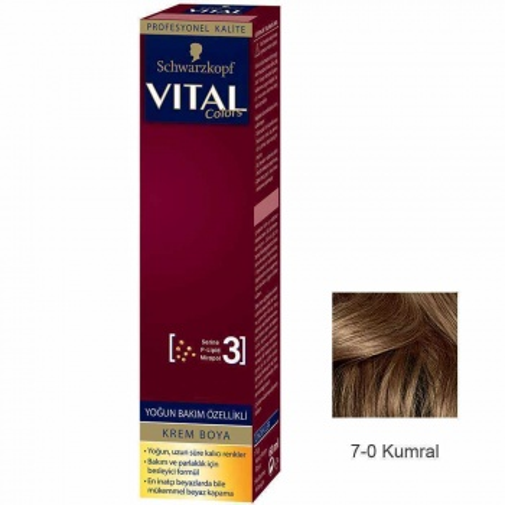Vital Colors Krem Saç Boyası 7.0 Kumral  - 60 ml