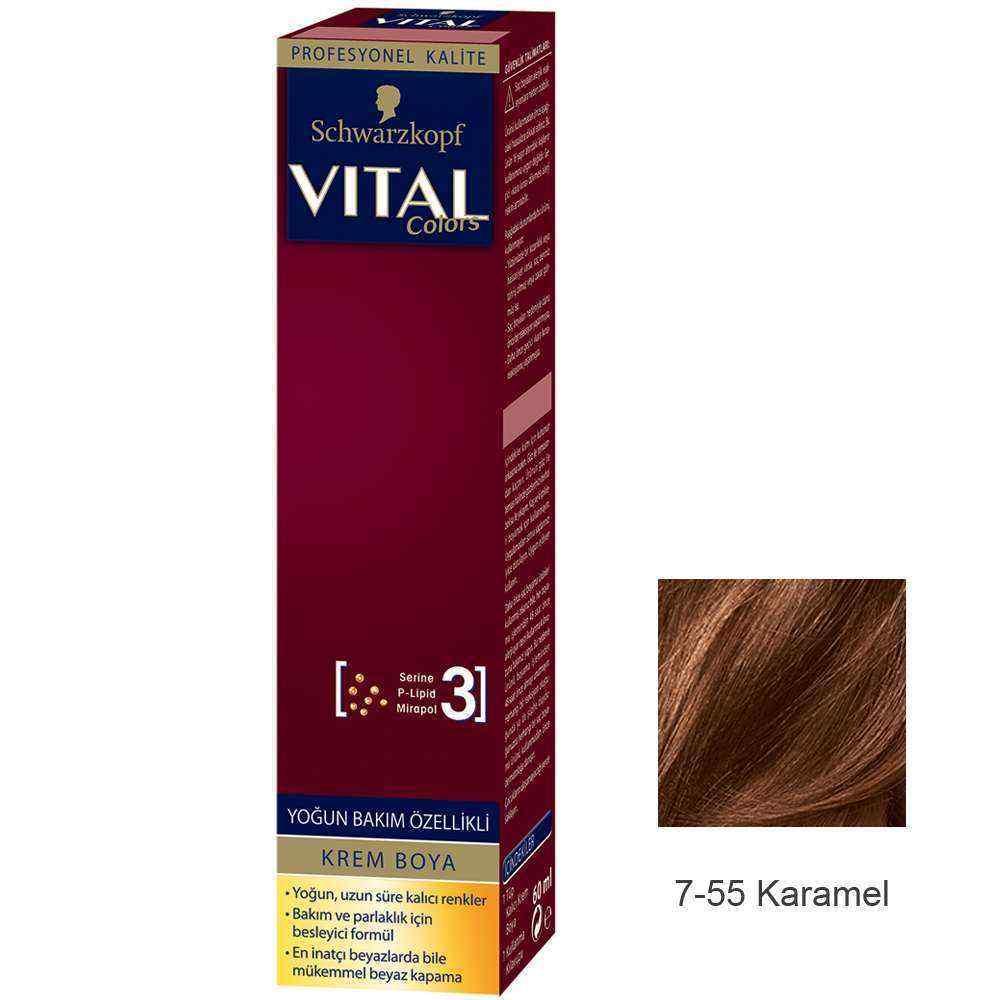 Vital Colors Krem Saç Boyası 7.55 Karamel  - 60 ml