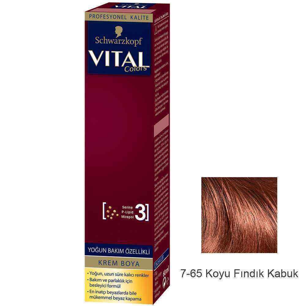 Vital Colors Krem Saç Boyası 7.65 Koyu Fındık Kabuğu  - 60 ml