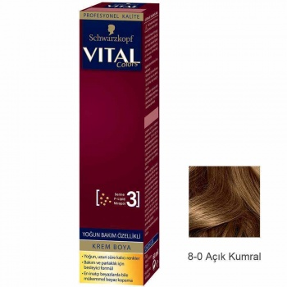 Vital Colors Krem Saç Boyası 8.0 Açık Kumral  - 60 ml