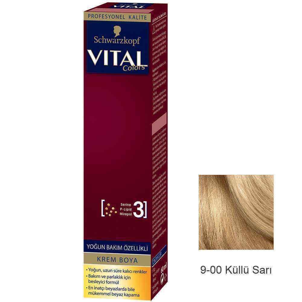 Vital Colors Krem Saç Boyası 9.0 Küllü Sarı  - 60 ml