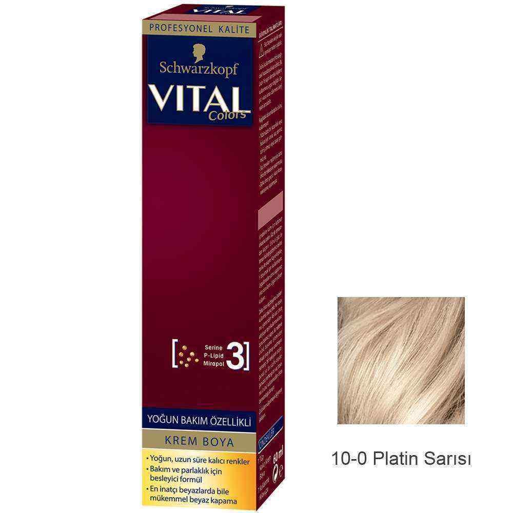 Vital Colors Krem Saç Boyası 10.0 Platin Sarı  - 60 ml