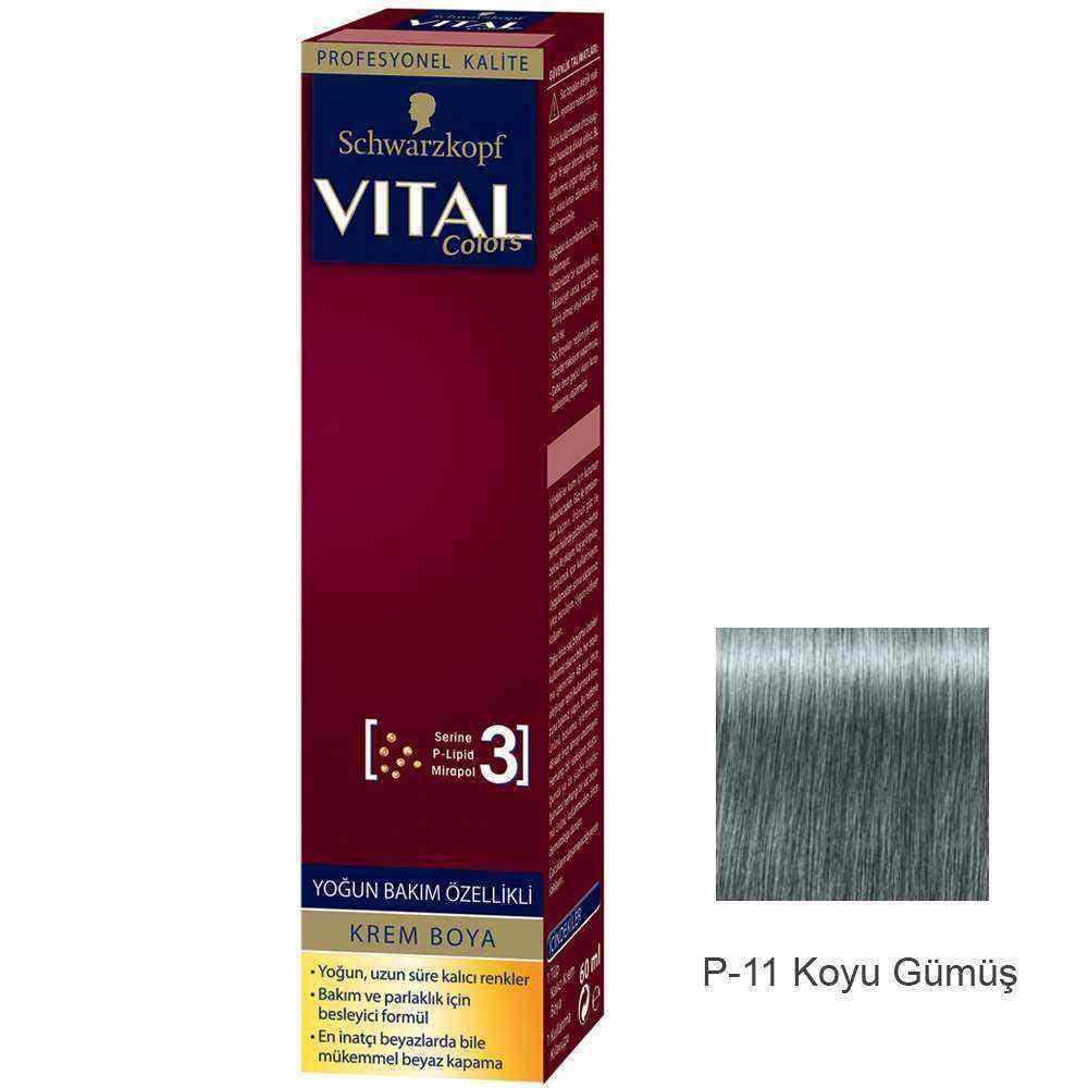 Vital Colors Krem Saç Boyası P11 Koyu Gümüş  - 60 ml