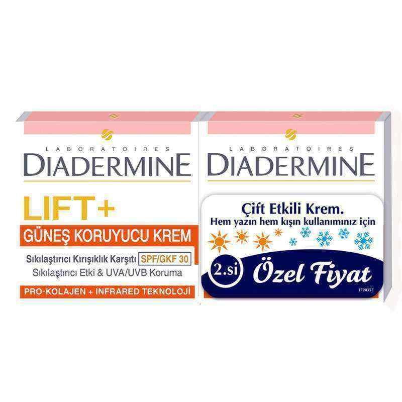 Diadermine Sıkılaştırıcı Kırışıklık Karşıtı ve Güneş Koruyucu Krem 50 ml + Spf 30