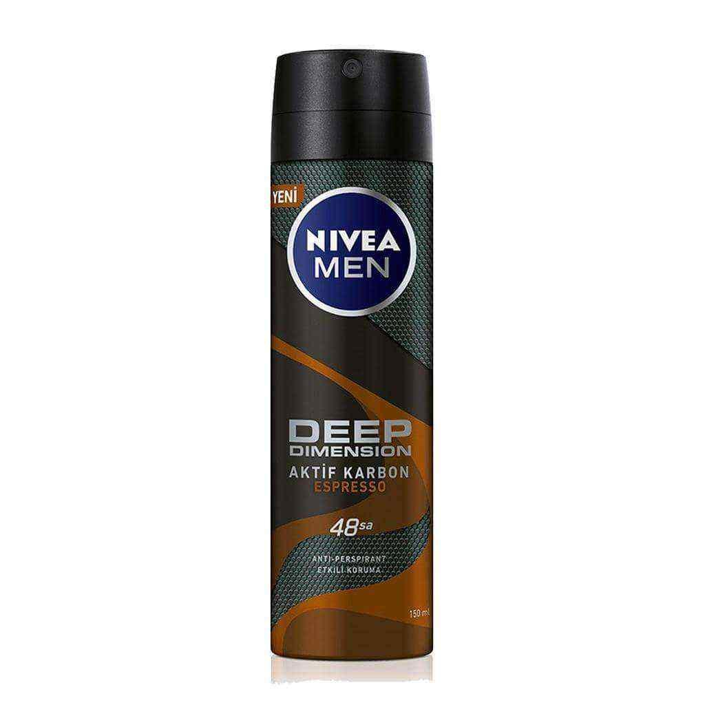 Nivea Men Deep Dimension Aktif Karbon Espresso Deodorant 150 Ml