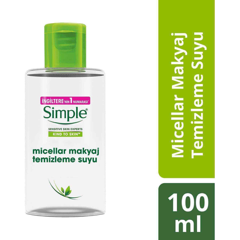 Simple Micellar Makyaj Temizleme Suyu 100 Ml Cep Boy