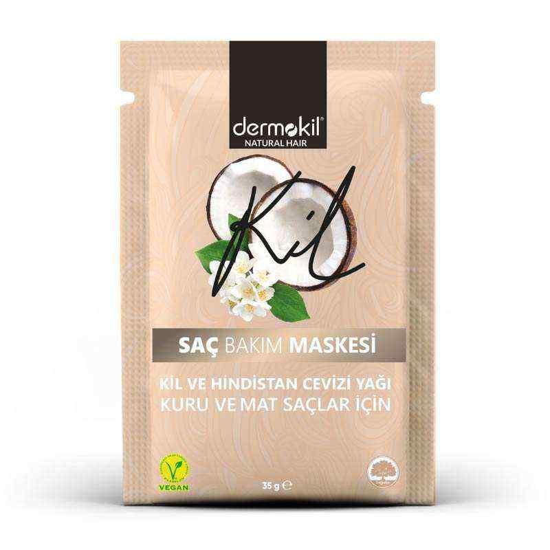 Dermokil Kil ve Hindistan Cevizi Yağlı Saç Maskesi 35 ml