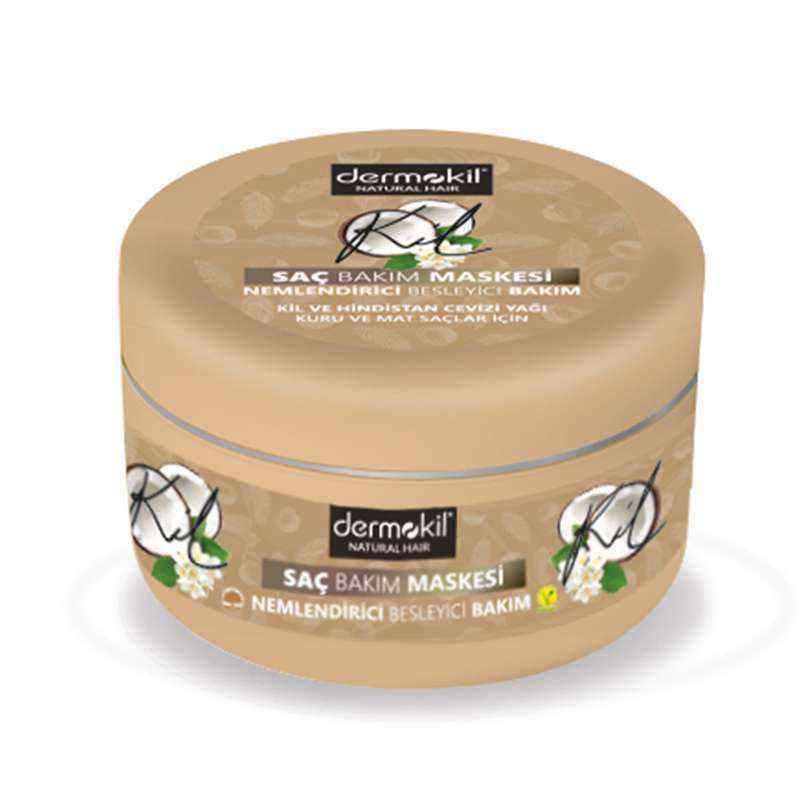 Dermokil Vegan Kil ve Hindistan Cevizi Saç Maskesi 300 ml
