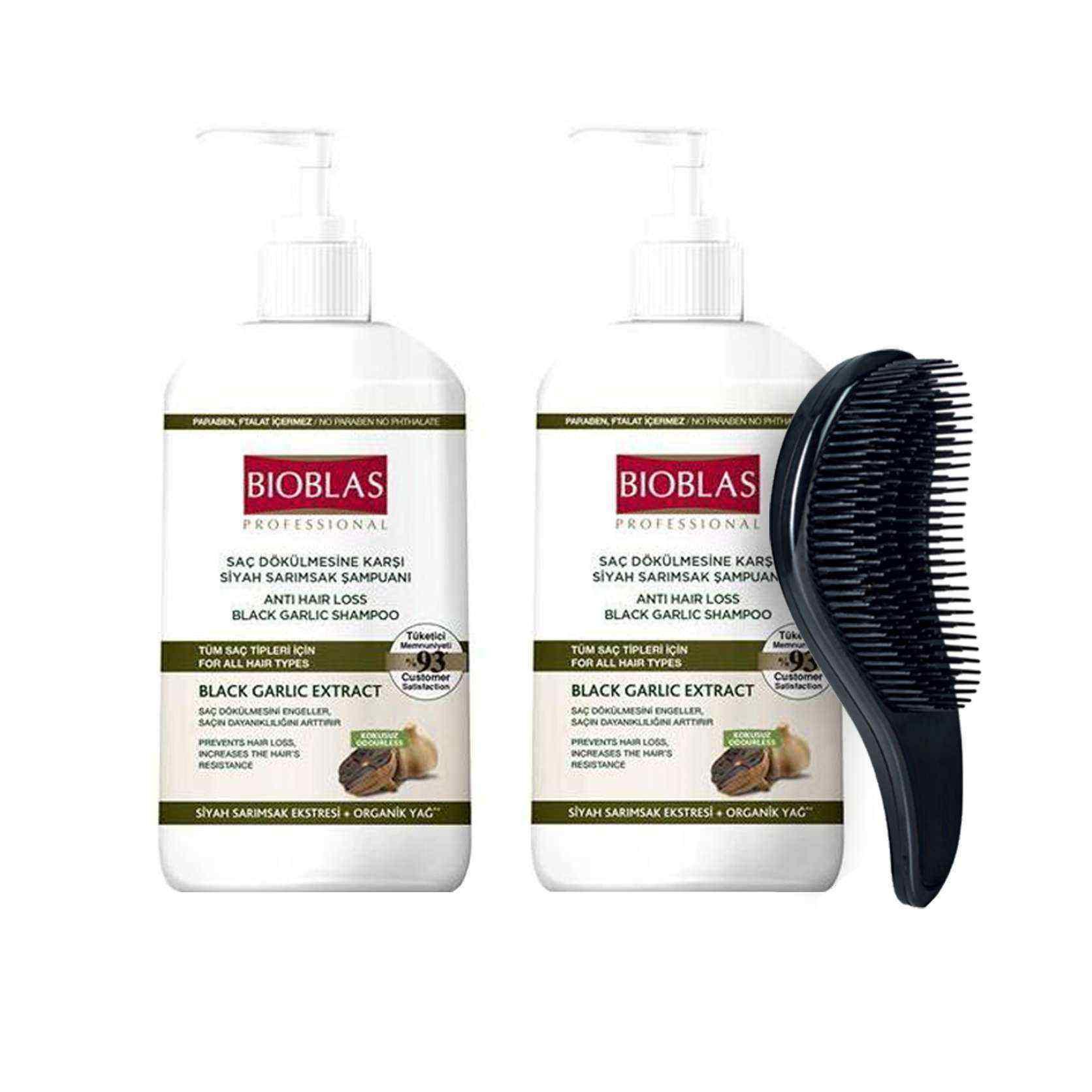 Bıoblas Saç Dökülmesine Karşı Siyah Sarımsak Şampuanı Tarak Hediyeli