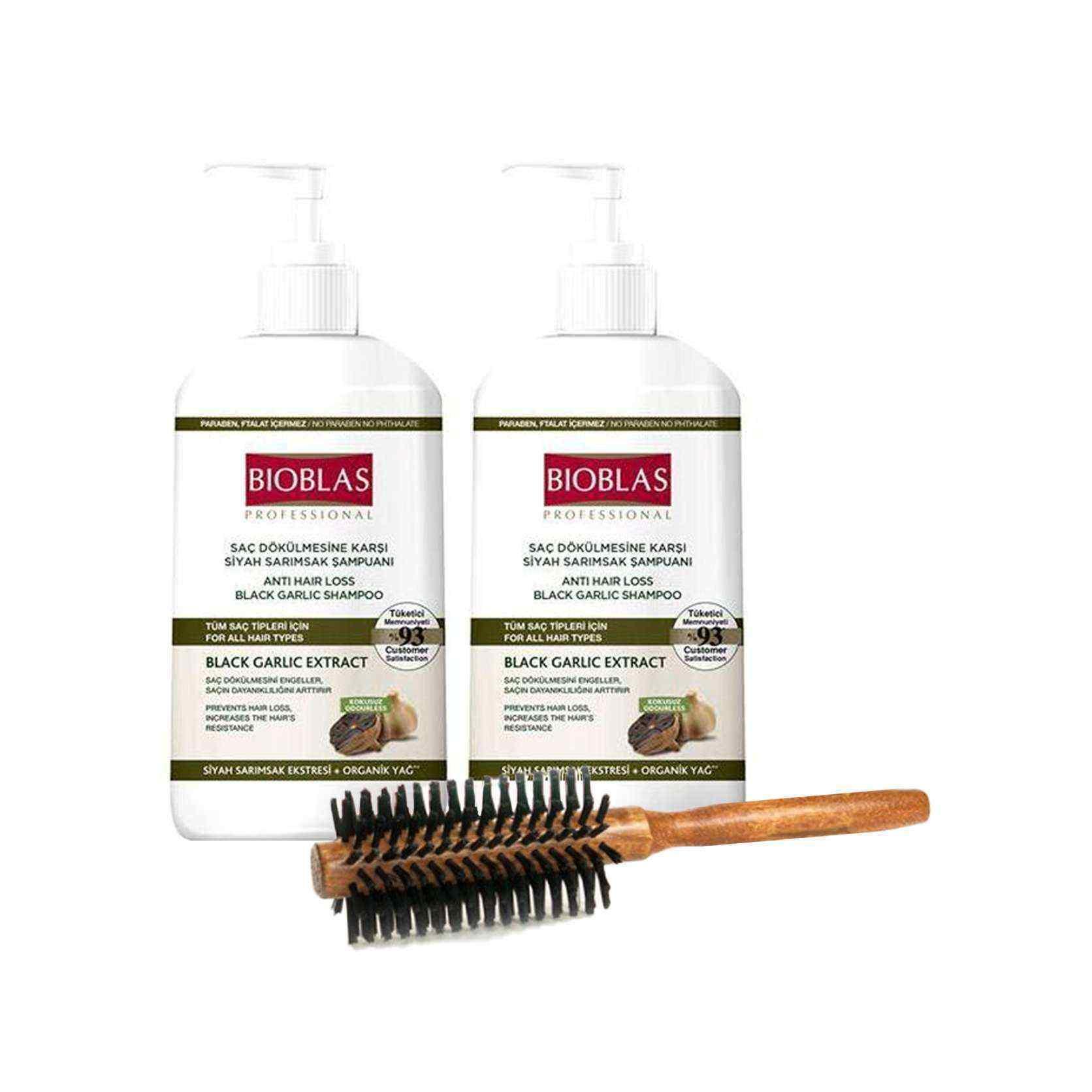 Bıoblas Saç Dökülmesine Karşı Siyah Sarımsak Şampuanı 2 Adet - Tarak Hediyeli